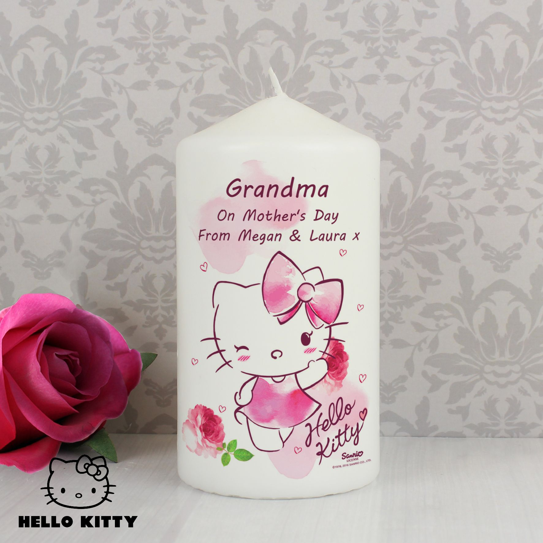 a00b53e55 Personalised Hello Kitty Pink Blush Candle | Mother's Day | Candles ...