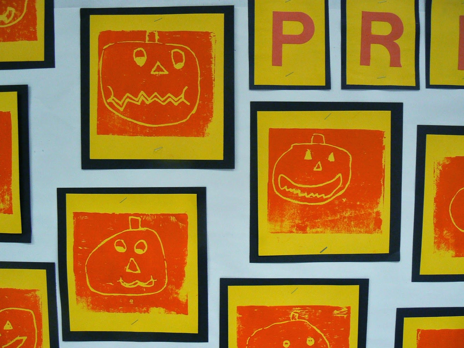 Jack O Lantern Prints Mrs T S First Grade Class