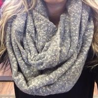 NEW Grey Boucle Infinity Scarf $20