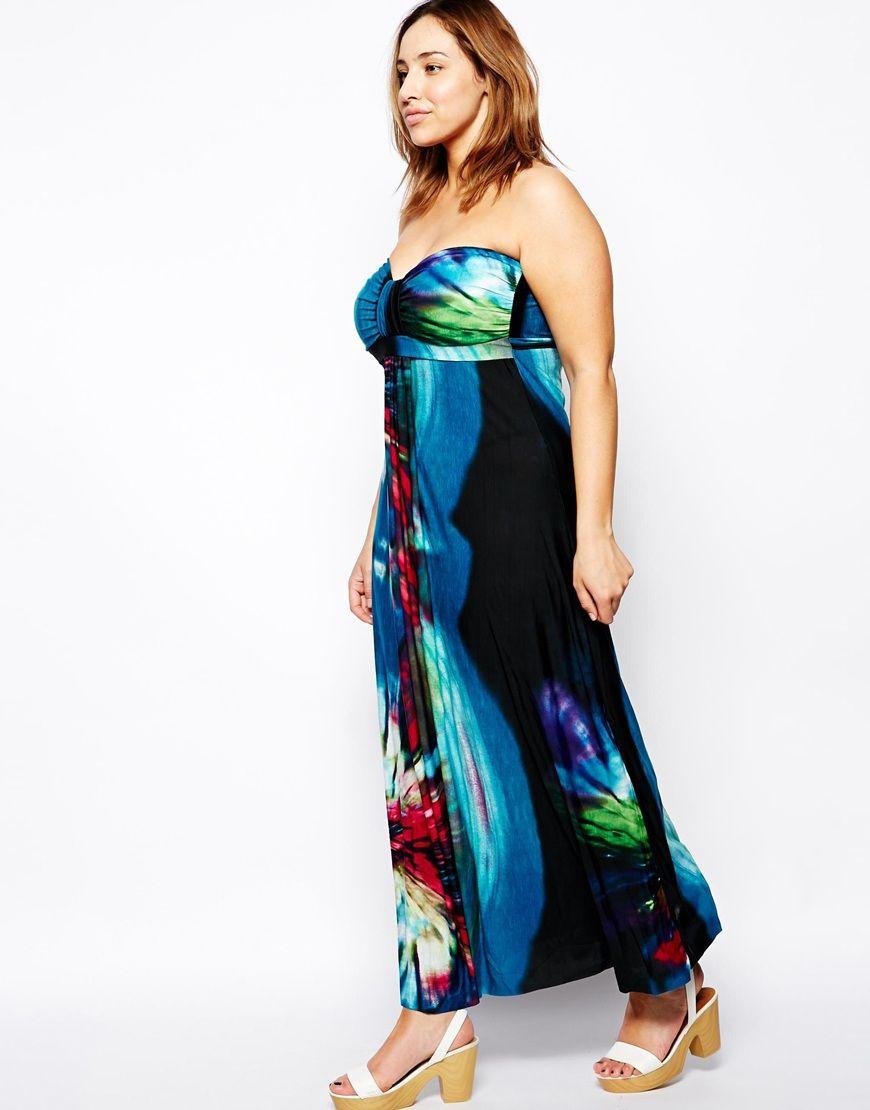 AX Paris Plus Size Tropical Print Maxi Dress | Jada Sezer (ASOS ...