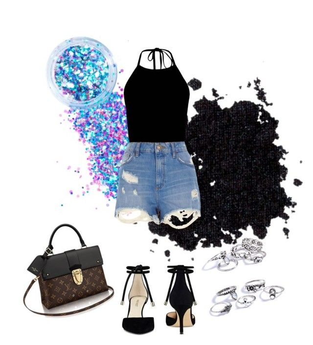 """""""summer comfy?"""" by ratsame ❤ liked on Polyvore featuring In Your Dreams, River Island and Nine West"""