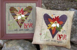 Fall In Love by Samsarah $6.50. Really adorable, designed for cross stitch OR wool applique.