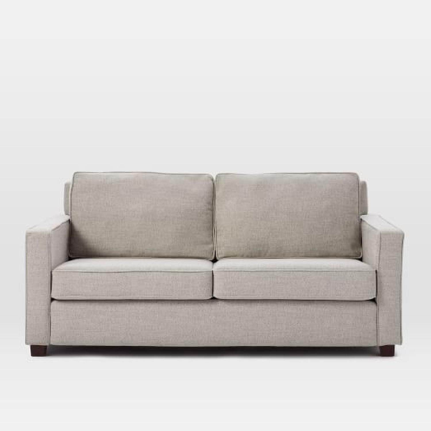 West Elm Henry Gray Twill Sofa Couch