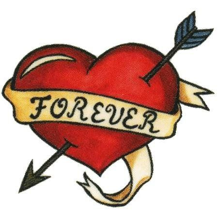 Forever Heart 3 by California Tattoos, Inc.. $1.00. Chrome. 1.5x1.5. In Stock. Temporary Tattoo. Temporary tattoo of a red heart wrapped in ribbon applies easily, comes with directions and is child safe. Tattoo is made with FDA approved inks and last for days. Made in USA. Comes in a group of 5. Love.