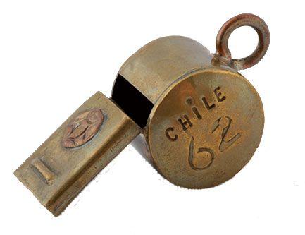 Resultado de imagen para SILBATO OFICIAL DEL LA COPA JULES RIMET EN CHILE 1962
