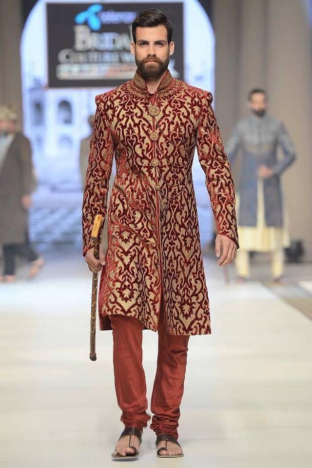 Soma Sengupta Fashion for the Indian Man- Brocade Red! | Indian ...