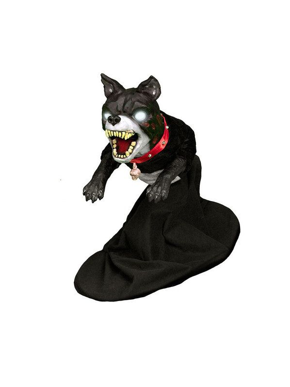 Check out Jumping Dog Animated Prop - Animated Props for Your Home - animated halloween decorations