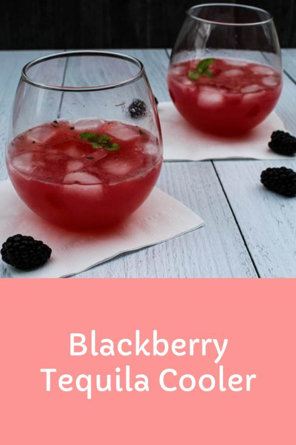 Blackberry Tequila Kühler -