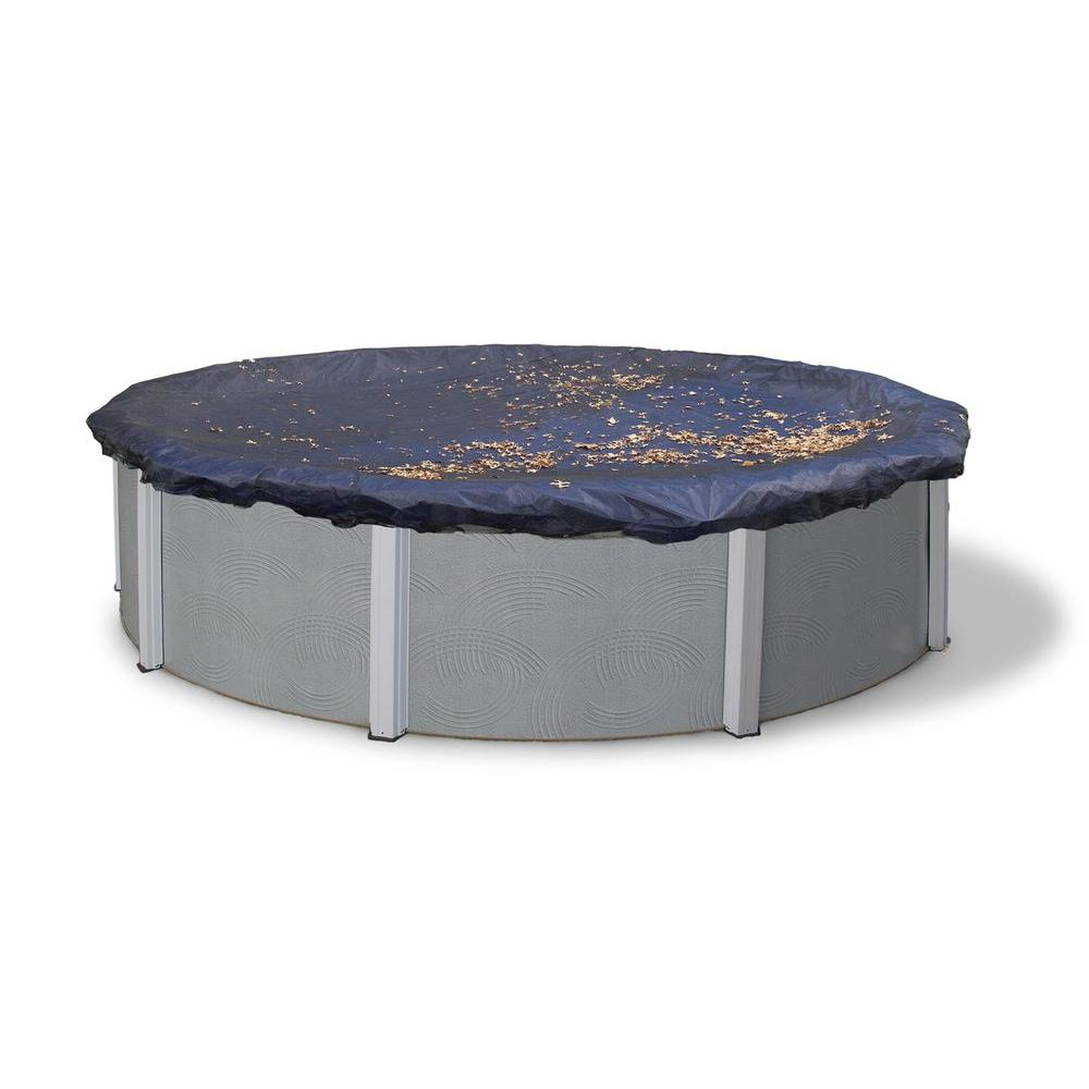 Blue Wave 21 Ft Round Black Leaf Net Above Ground Pool Cover Bwc506 The Home Depot Above Ground Pool Cover Winter Pool Covers In Ground Pools