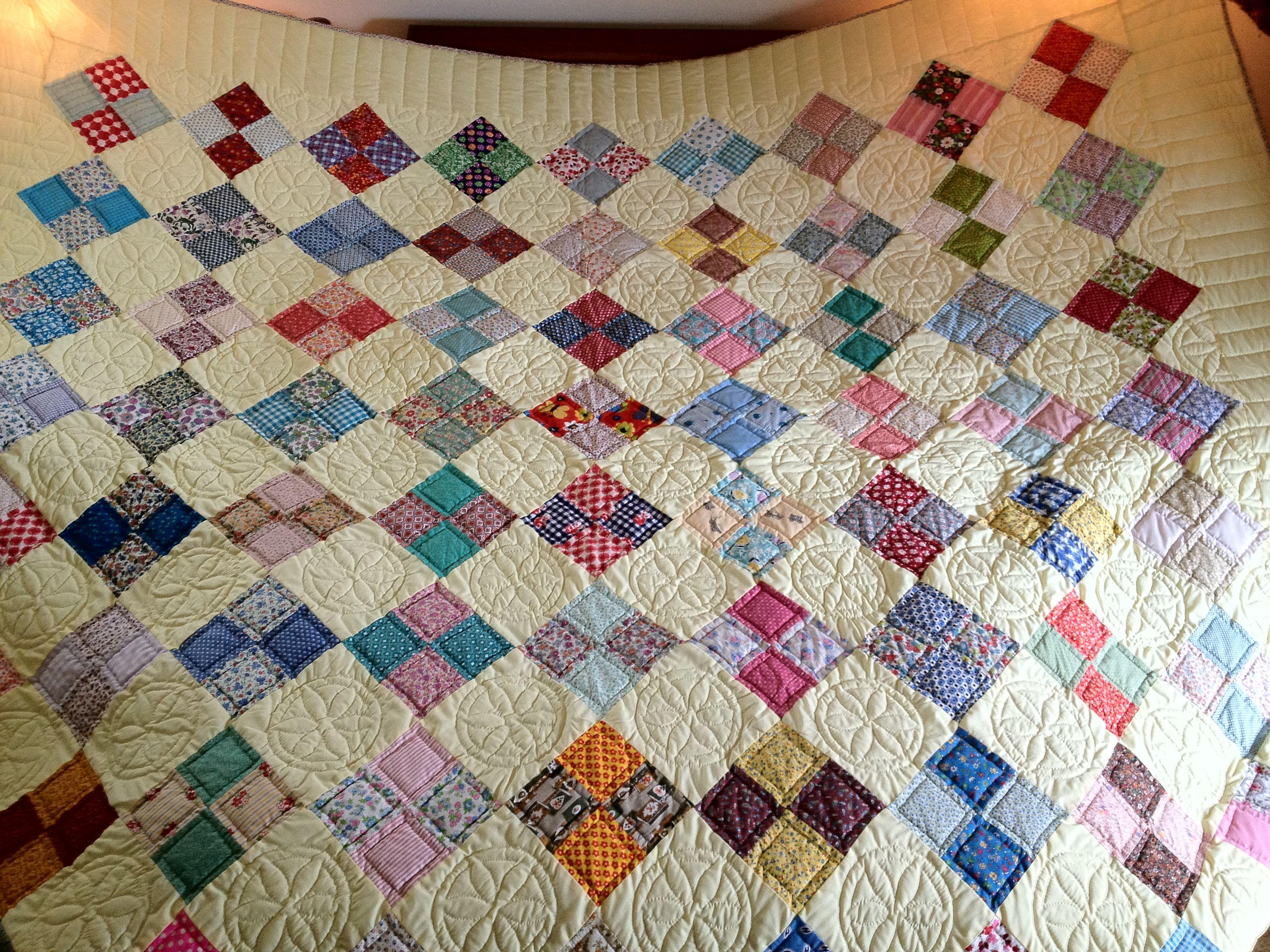 Irene Nolt 8x9 Four Patch Quilt For Holly 4 Patch Quilt Patch Quilt Quilts