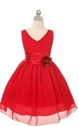 Red Chiffon Flower Girl Dress - 50.87 - Free Shipping Canada/USA