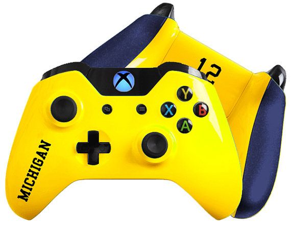 March Madness Inspired Custom Xbox One Controller Wolverines Etsy Custom Xbox Custom Xbox One Controller Xbox One Controller