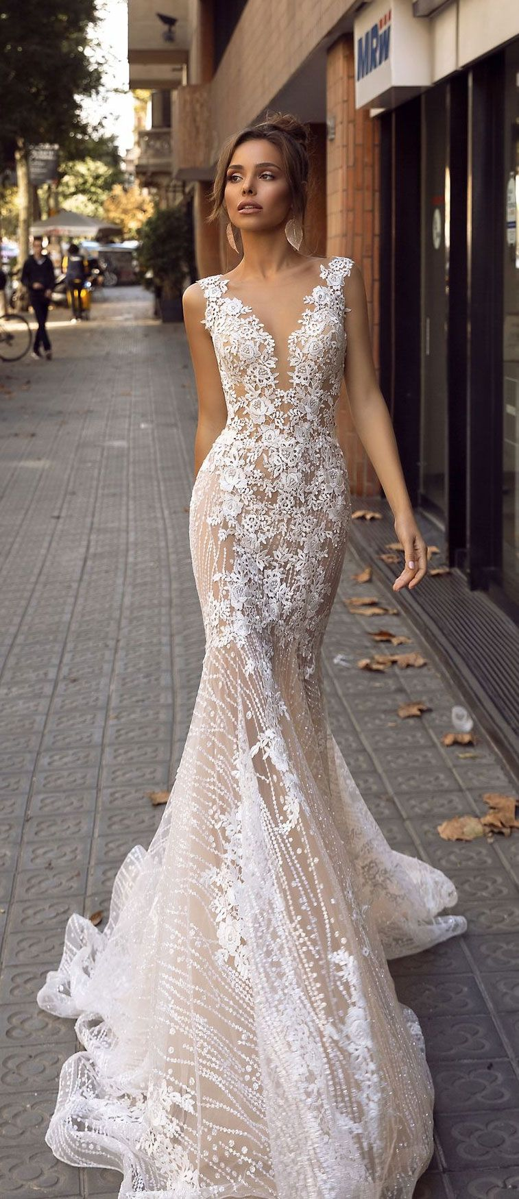 Beautiful wedding dress inspiration - Wedding Dresses, Sleeveless mermaid wedding gown, #bridalgown #weddinggown #weddingdress #bridedress