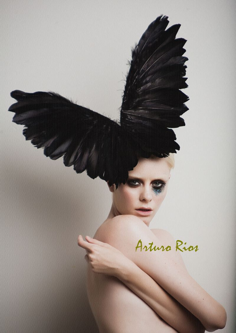 Lady Gaga Black Couture Wings, Fashion Headpiece, Fascinator, Avant garde hat, Derby Hat, Melbourne Cup hats,Black Halloween Hat by ArturoRios on Etsy https://www.etsy.com/listing/66562305/lady-gaga-black-couture-wings-fashion