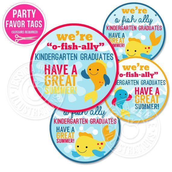 image relating to O Fish Ally Printable identified as O-Fish-Ally Kindergarten Graduates Printable Tags, Printable
