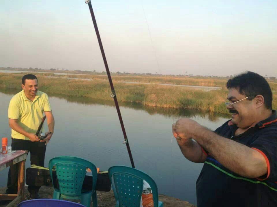 صيد السمك في العياط بمصر
