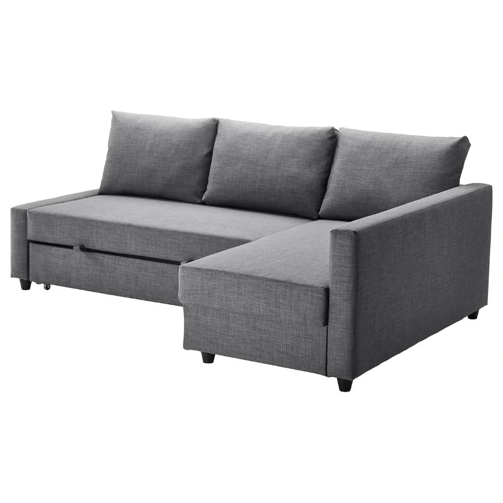 Ikea Friheten Skiftebo Dark Gray Sleeper Sectional 3 Seat W