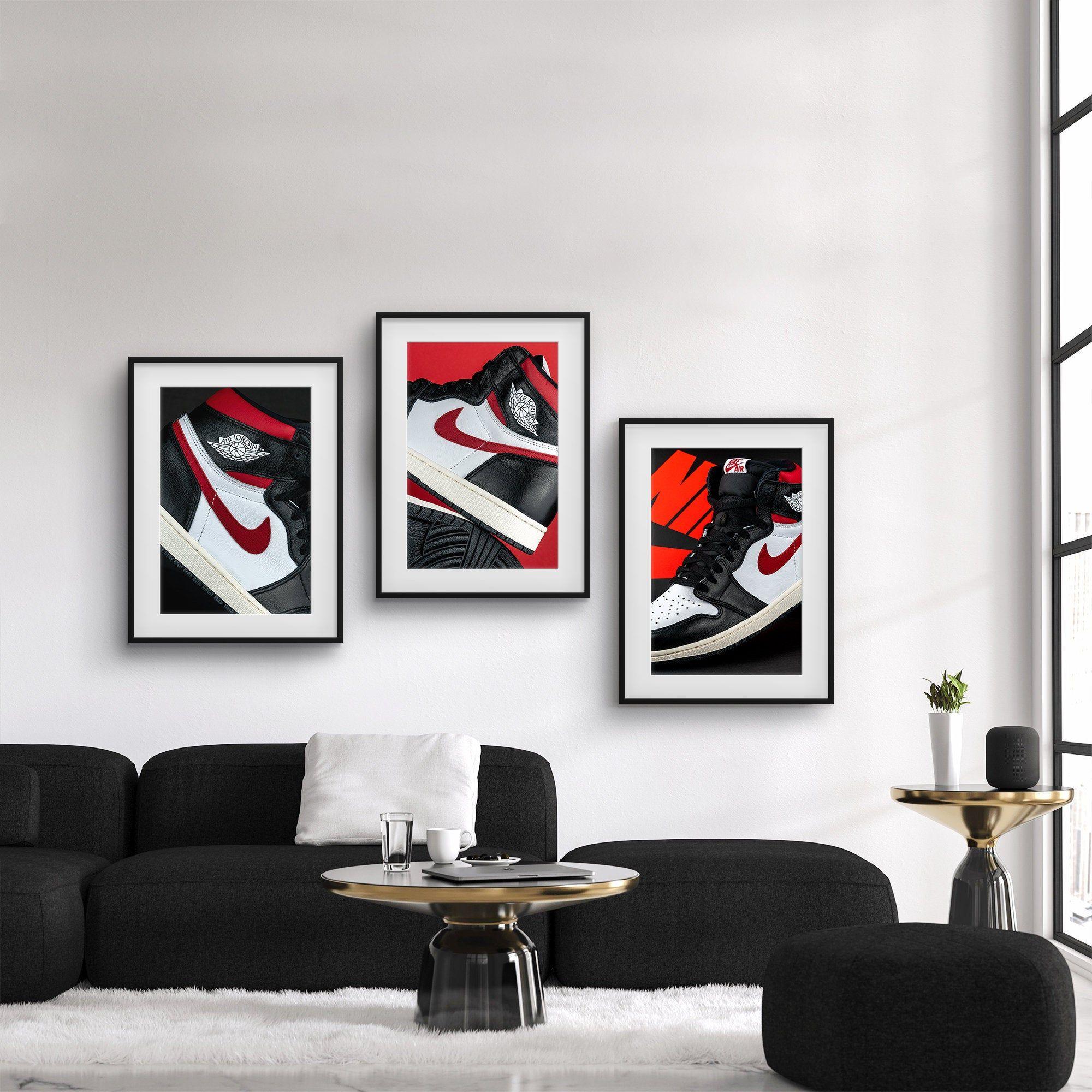 Air Jordan 1 Bred Sneaker Collection | Sneakerhead room ...