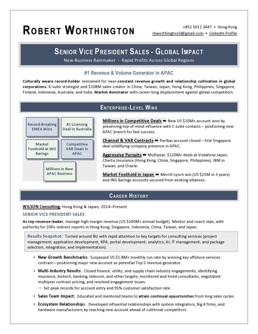 svp sales resume sample by laura smith