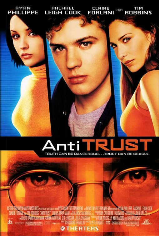 antitrust about a fake evil microsoft where tim robbins plays the