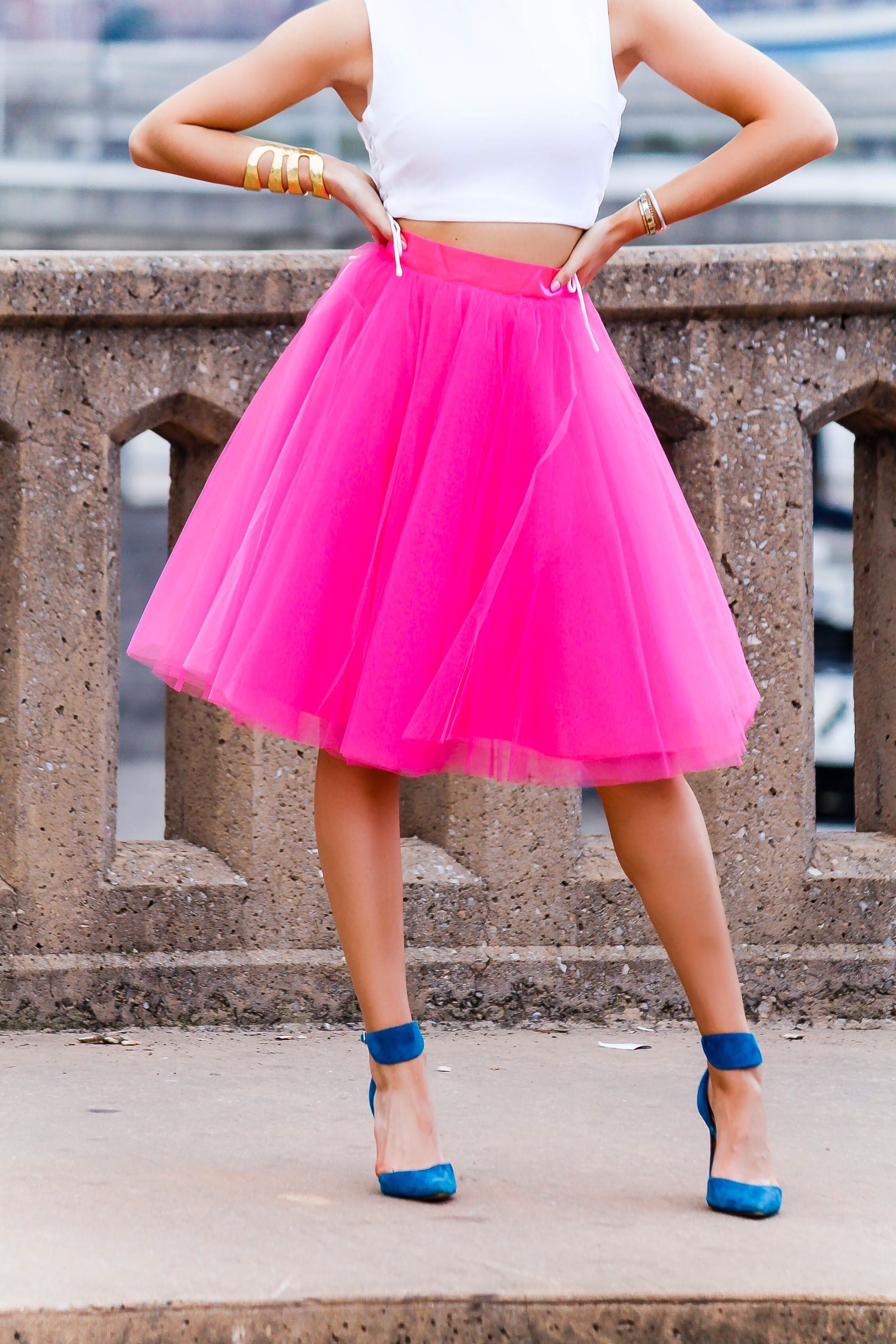 9b44724fa2b4b Hot Pink Tulle Skirt - love  n  labels