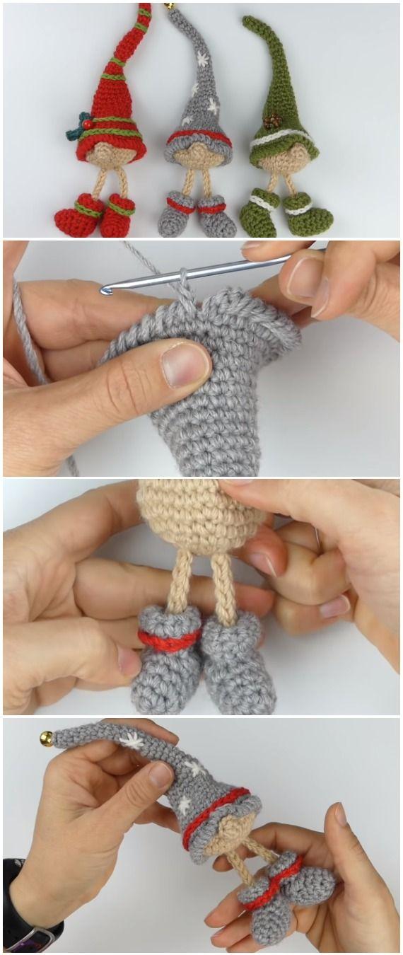 Deco Noel Crochet.Learn To Crochet Christmas Elf Deco Noel Tricot Noël