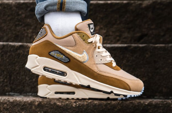 online store d864b cbfe1 Muted Bronze Covers This Nike Air Max 90 Premium