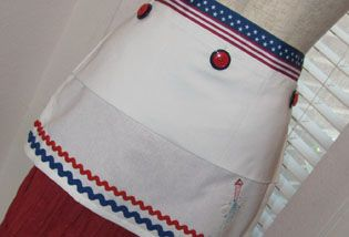 Fourth of July Apron by Tari Intardonato