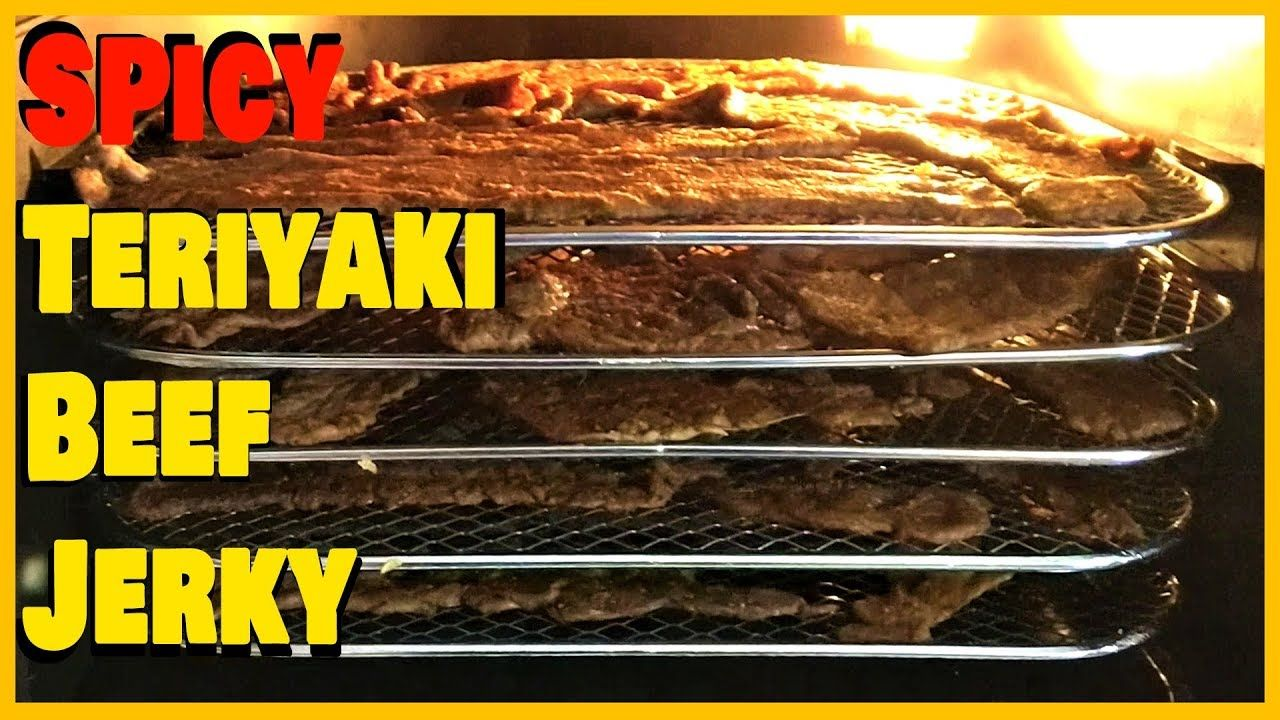 Spicy Teriyaki Beef Jerky Made using the Power Air Fryer