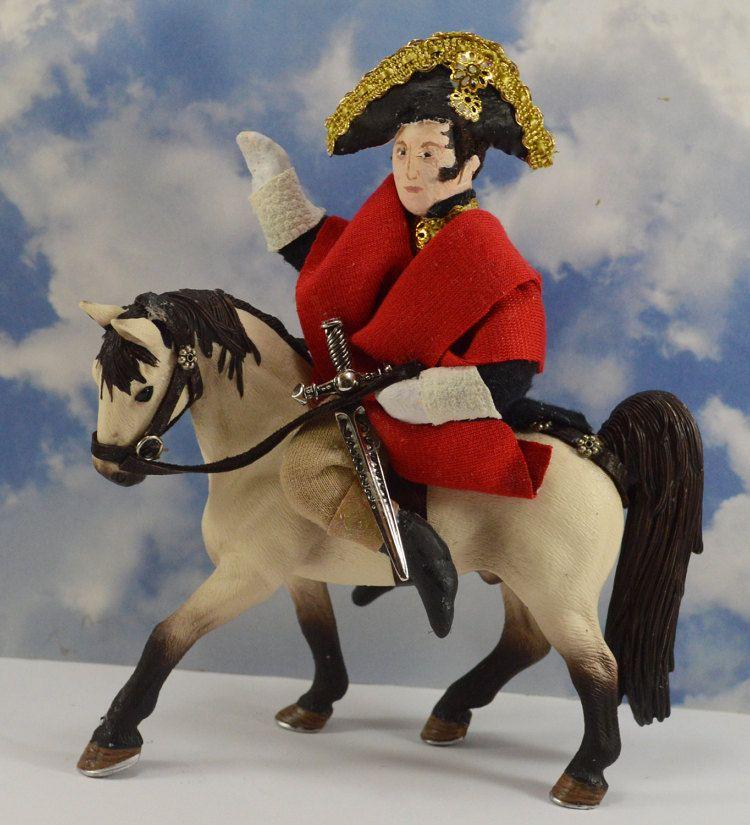 Napoleon Bonaparte Riding a Horse Diorama Doll by