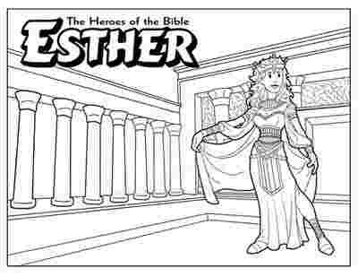 Bible Story Of Esther Coloring Pages Queen Esther Coloring