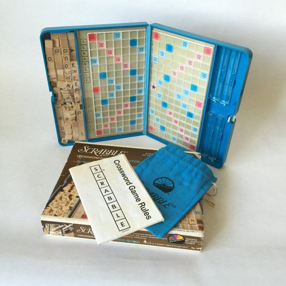 Travel Scrabble Game With Carrying Case Vintage Complete Fun Family Game