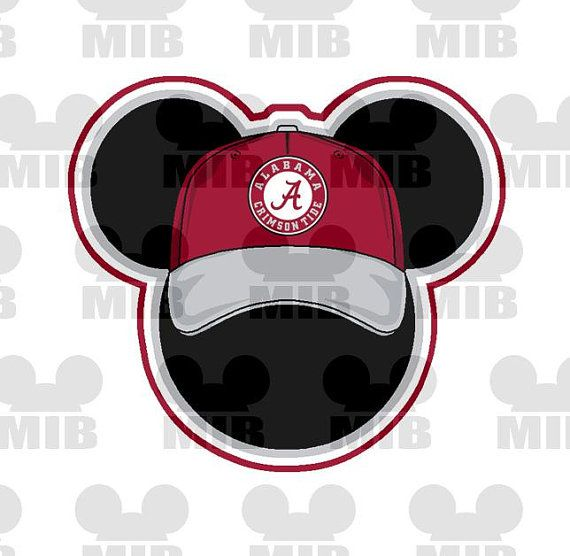 MICKEY'S CAPS Alabama Crimson Tide  Choose Your by MiceInBlack, $4.50
