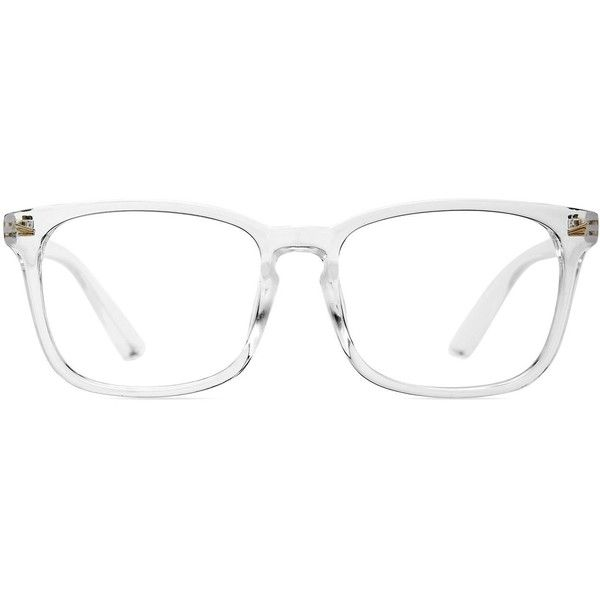 e58059e0c6 Amazon.com  TIJN Women s Transparent Glasses Frame Wayfarer Chic ...