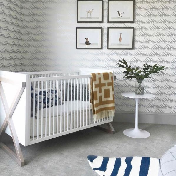 The x-leg Campaign Crib channels traditional campaign influence with its boxy frame and sense of portability. painted interior panels provide a peek of unexpected color. When your little one begins to outgrow the crib, use the toddler guardrail kit (sold separately) to convert your crib into a toddler bed with ease.
