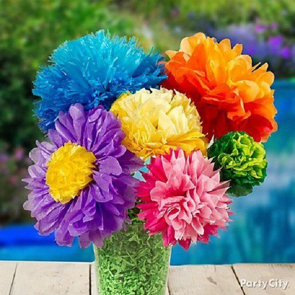 Summer birthday party ideas for girls luau pinterest party diy paper flower bouquet if you would like your own homemade bouquet try making paper flowers instead no need to buy fresh flowers just make your own mightylinksfo