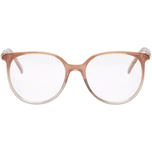 e6275102b78 Chloé Taupe Acetate Round Glasses ( 185) ❤ liked on Polyvore featuring  accessories