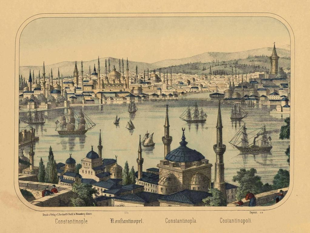"[Ottoman Empire] Istanbul, 1860 ""C. Burckardt"""