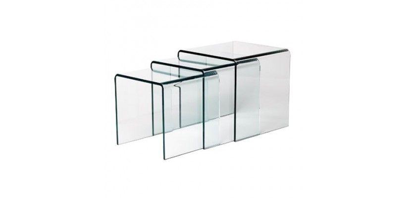 Gigogne Tables D Appoint En Verre 12 Mm Meubles Design Armoire En Verre Meuble Verre Design
