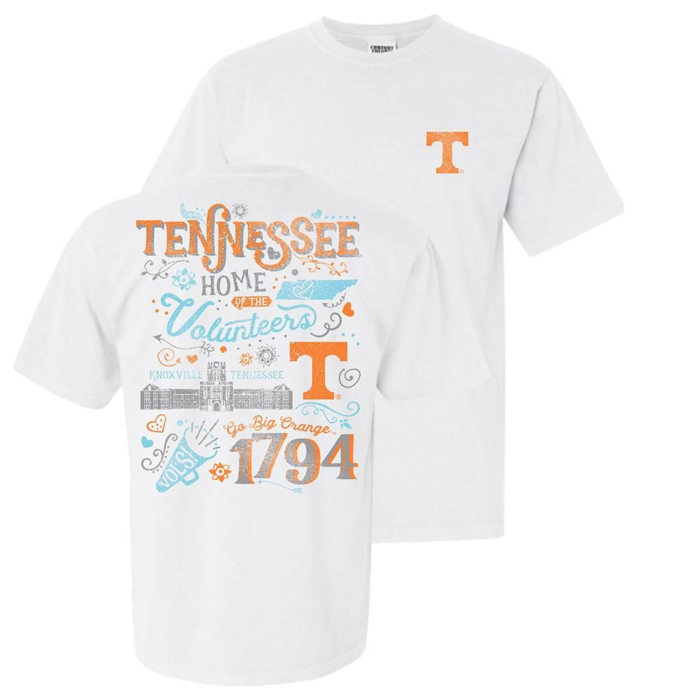 Tennessee Women's Comfort Colors Home Of The Volunteers