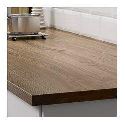 Ekbacken Dark Oak Effect Worktop 246x2 8 Cm Ikea Countertops Minimalist Kitchen Laminate Worktop