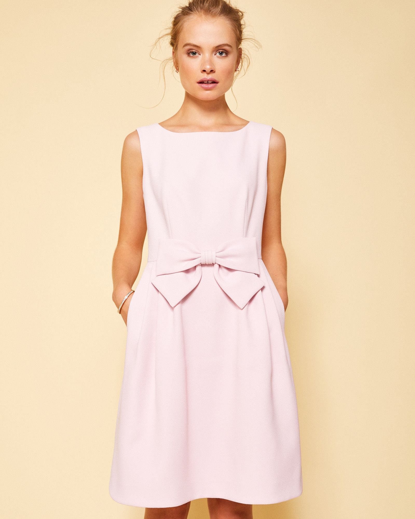 729660e31 Ted Baker Statement bow dress Mid Pink