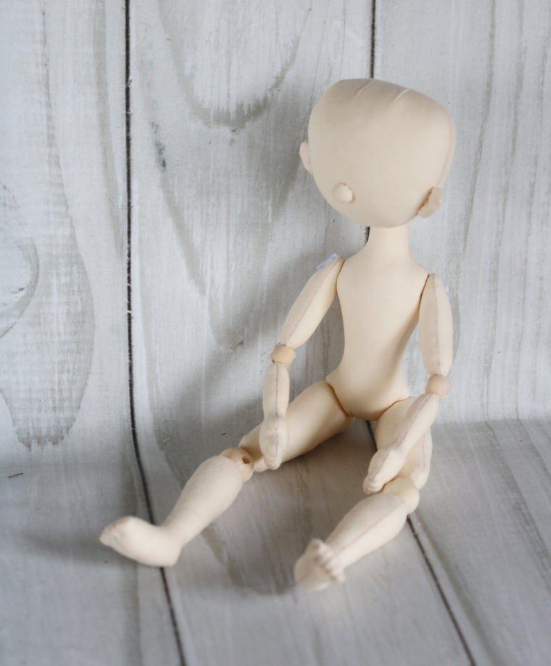 Blank doll body 13in Doll body made of cloth