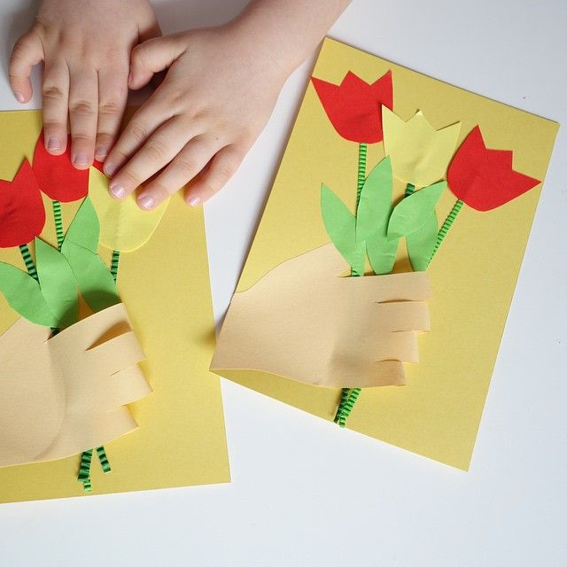 Как сделать из бумаги на 8 марта бабушке открытку, детям игрушка