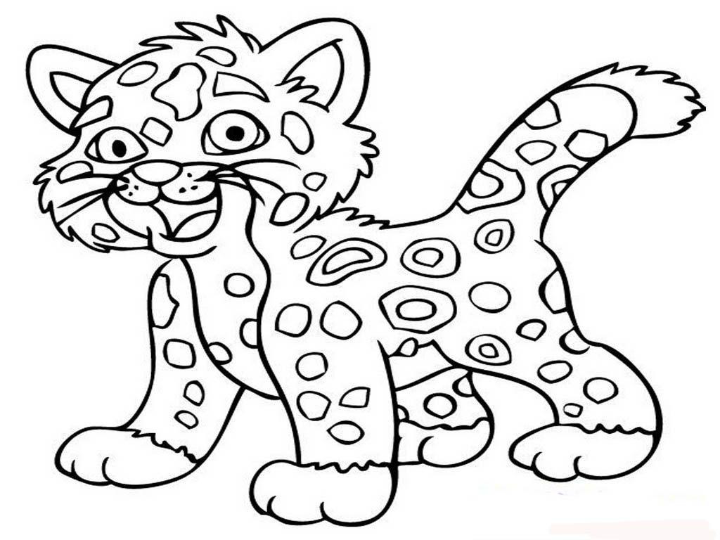 Ausmalbild Jaguar Tier zum ausdrucken  Löwen malvorlagen, Wenn du