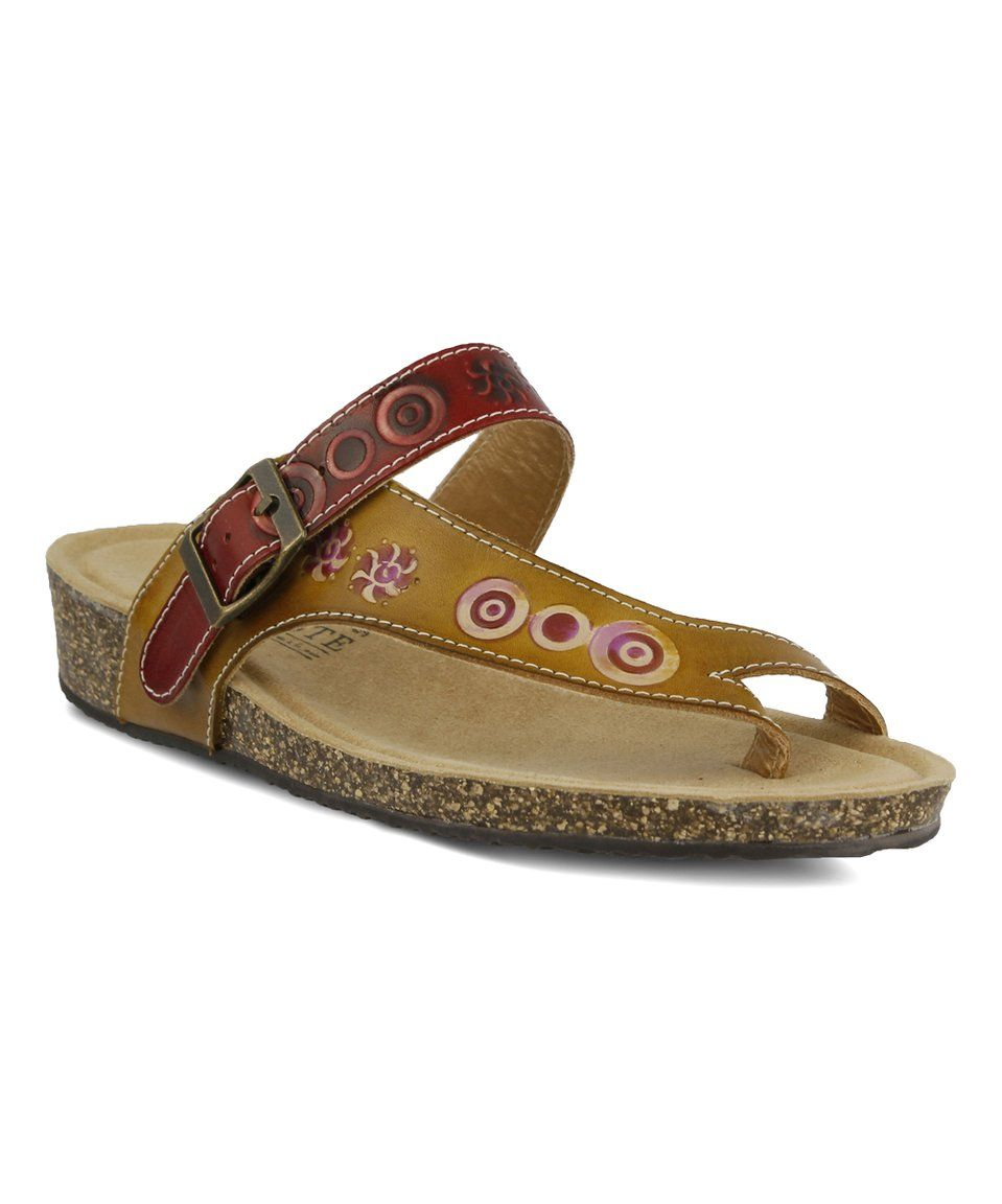 Take a look at this Yellow Lonian Leather Sandal today!
