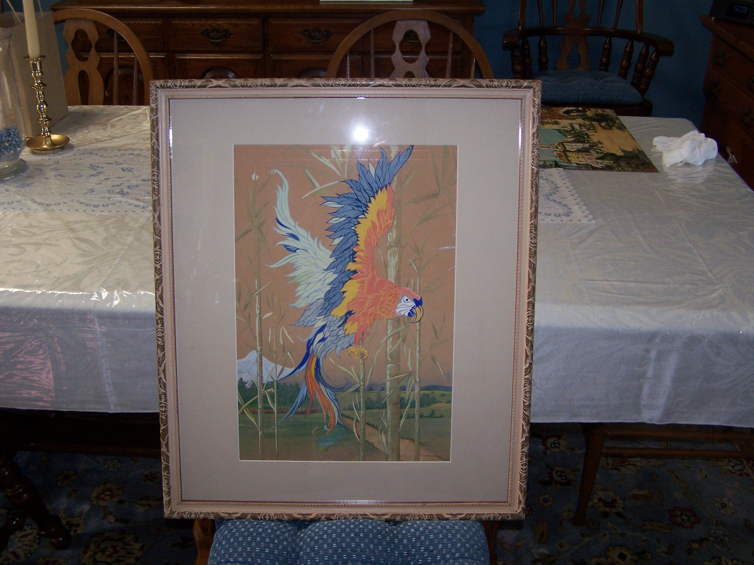 Don S Used Some New Matting To Freshen Up A Painting His Grandfather Made In 1938 It Looks Amazing Art Artwork Birds Nature Family Artwork Art Painting
