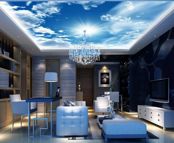 54 Really Great Home Office Ideas Photos Ceiling Murals Sky Ceiling Ceiling Design