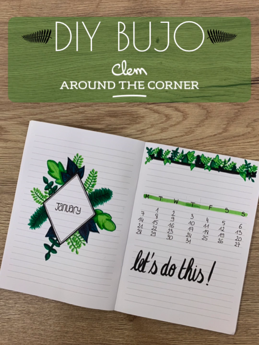 DIY bujo - Vegetal inspired monthly cover - Jannua