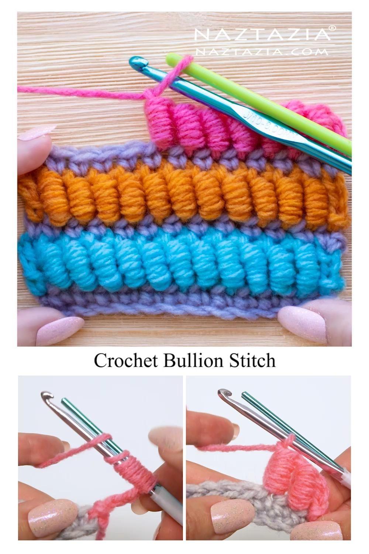 Photo of Crochet Bullion Stitch Tutorial by Donna Wolfe from Naztazia